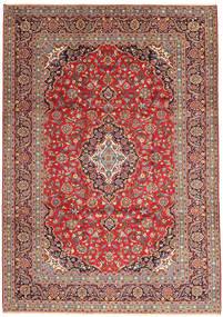 Keshan Rug 247X351 Authentic  Oriental Handknotted Dark Red/Rust Red (Wool, Persia/Iran)