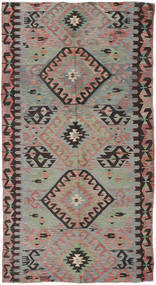 Kilim Turkish Rug 153X292 Authentic  Oriental Handwoven Dark Grey/Light Grey (Wool, Turkey)