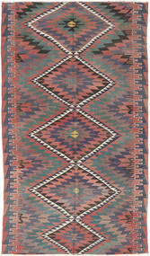 Kilim Turkish Rug 177X305 Authentic  Oriental Handwoven Dark Grey/Rust Red (Wool, Turkey)