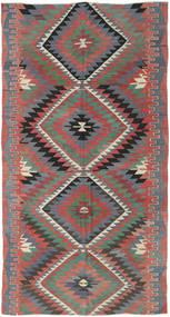Kilim Tureckie Dywan 155X295 Orientalny Tkany Ręcznie Jasnoszary/Ciemnoszary (Wełna, Turcja)