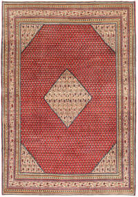 Sarouk Patina Rug 217X310 Authentic  Oriental Handknotted Dark Red/Rust Red (Wool, Persia/Iran)