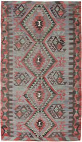 Kilim Turkish Rug 170X293 Authentic  Oriental Handwoven Dark Grey/Light Brown (Wool, Turkey)