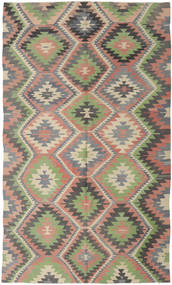 Kilim Turkish Rug 183X312 Authentic  Oriental Handwoven Dark Grey/Light Grey (Wool, Turkey)