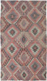 Kelim Tyrkiske Teppe 188X330 Ekte Orientalsk Håndvevd Lys Grå/Lysbrun (Ull, Tyrkia)