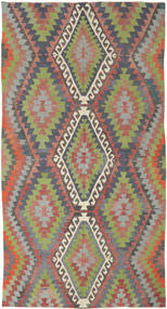 Kilim Turkish Rug 172X321 Authentic  Oriental Handwoven Dark Red/Light Grey (Wool, Turkey)