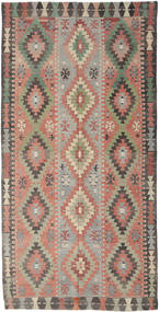 Kilim Turkish Rug 170X334 Authentic  Oriental Handwoven Light Brown/Dark Grey (Wool, Turkey)