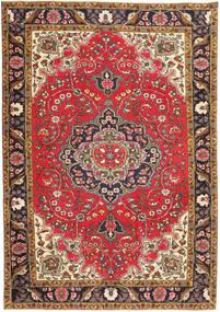 Tabriz Patina Teppe 204X294 Ekte Orientalsk Håndknyttet Lysbrun/Mørk Blå (Ull, Persia/Iran)