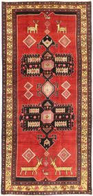 Hamadan Patina Rug 143X305 Authentic  Oriental Handknotted Hallway Runner  Rust Red/Dark Brown (Wool, Persia/Iran)