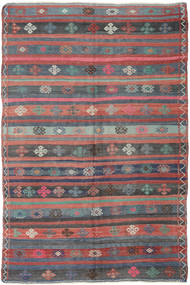 Kilim Turkish Rug 160X248 Authentic  Oriental Handwoven Dark Grey/Purple (Wool, Turkey)