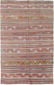Kelim Turkisk Matta 154X248 Äkta Orientalisk Handvävd Ljusbrun/Ljusgrå (Ull, Turkiet)