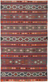 Kelim Turkki Matto 175X313 Itämainen Käsinkudottu Tummanpunainen/Tummanharmaa (Villa, Turkki)
