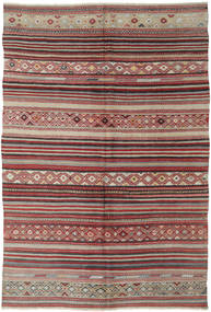 Kilim Turkish Rug 158X237 Authentic  Oriental Handwoven Brown/Light Grey (Wool, Turkey)