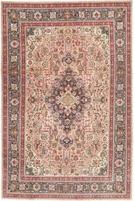 Tabriz Patina Matto 198X294 Itämainen Käsinsolmittu Vaaleanruskea/Vaaleanpunainen (Villa, Persia/Iran)