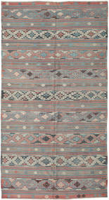 Kilim Turkish Rug 168X314 Authentic  Oriental Handwoven Light Grey/Light Pink (Wool, Turkey)