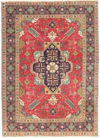Tabriz Patina Matto 138X190 Itämainen Käsinsolmittu Vaaleanruskea/Tummanvioletti (Villa, Persia/Iran)