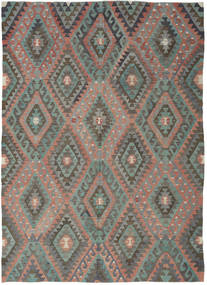 Kilim Turkish Rug 194X270 Authentic  Oriental Handwoven Dark Grey/Light Brown (Wool, Turkey)