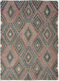 Kilim Tureckie Dywan 194X270 Orientalny Tkany Ręcznie Ciemnoszary/Jasnobrązowy (Wełna, Turcja)