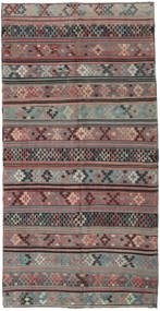 Kilim Turkish Rug 155X305 Authentic  Oriental Handwoven Dark Grey/Light Brown (Wool, Turkey)