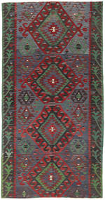 Kilim Turkish Rug 157X300 Authentic  Oriental Handwoven Dark Red/Dark Grey (Wool, Turkey)