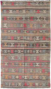 Kelim Turkisk Matta 166X290 Äkta Orientalisk Handvävd Ljusbrun/Mörkgrå (Ull, Turkiet)
