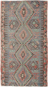 Kilim Turkish Rug 150X280 Authentic  Oriental Handwoven Light Brown/Light Grey/Dark Grey (Wool, Turkey)