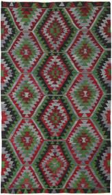 Kilim Turkish Rug 160X280 Authentic Oriental Handwoven Dark Red/Dark Grey (Wool, Turkey)