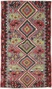 Kilim Turkish Rug 162X282 Authentic  Oriental Handwoven Dark Red/Dark Brown (Wool, Turkey)