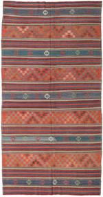 Kilim Turkish Rug 167X323 Authentic Oriental Handwoven Brown/Dark Grey (Wool, Turkey)