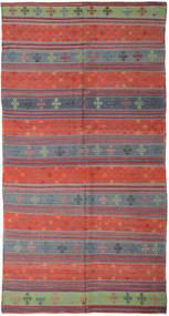 Kilim Turkish Rug 177X336 Authentic  Oriental Handwoven Dark Grey/Rust Red (Wool, Turkey)