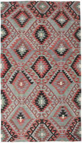 Kilim Turkish Rug 177X308 Authentic  Oriental Handwoven Light Grey/Rust Red (Wool, Turkey)