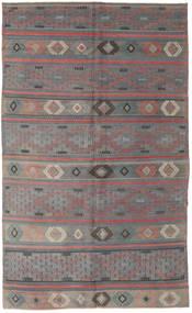 Kilim Turkish Rug 168X285 Authentic  Oriental Handwoven Dark Grey/Light Grey (Wool, Turkey)