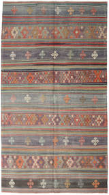 Kilim Turkish Rug 163X295 Authentic  Oriental Handwoven Light Brown/Dark Grey (Wool, Turkey)
