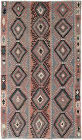 Kilim Turkish Rug 160X267 Authentic Oriental Handwoven Dark Grey/Brown (Wool, Turkey)