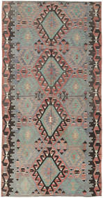 Kilim Turkish Rug 160X308 Authentic  Oriental Handwoven Light Grey/Dark Grey (Wool, Turkey)