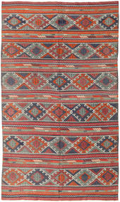 Kilim Turkish Rug 172X282 Authentic  Oriental Handwoven Dark Red/Rust Red (Wool, Turkey)