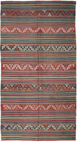 Kilim Turkish Rug 167X314 Authentic  Oriental Handwoven Dark Grey/Dark Red (Wool, Turkey)