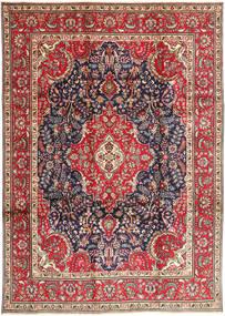 Tabriz Matto 248X343 Itämainen Käsinsolmittu Tummanvioletti/Tummanharmaa (Villa, Persia/Iran)