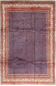 Sarough Mir Matto 193X297 Itämainen Käsinsolmittu Tummanvioletti/Violetti (Villa, Persia/Iran)