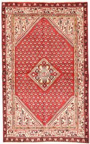 Hamadan Rug 125X200 Authentic  Oriental Handknotted Light Pink/Beige (Wool, Persia/Iran)