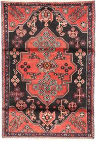 Saveh Tappeto 110X162 Orientale Fatto A Mano Nero/Marrone Scuro (Lana, Persia/Iran)