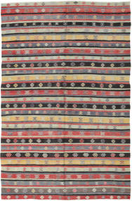 Kilim Turkish Rug 171X275 Authentic  Oriental Handwoven Black/Dark Beige (Wool, Turkey)