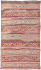 Kelim Türkei Teppich  190X326 Echter Orientalischer Handgewebter Hellgrau/Lila (Wolle, Türkei)