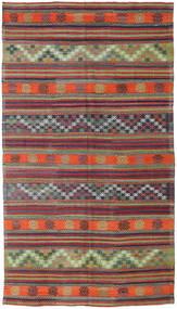 Kelim Tyrkiet Tæppe 173X310 Ægte Orientalsk Håndvævet Mørkerød/Lilla (Uld, Tyrkiet)
