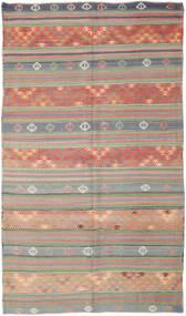 Kelim Türkei Teppich 177X308 Echter Orientalischer Handgewebter Hellgrau/Hell Grün (Wolle, Türkei)