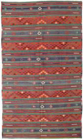 Kilim Turkish Rug 170X296 Authentic Oriental Handwoven Dark Red/Dark Green (Wool, Turkey)