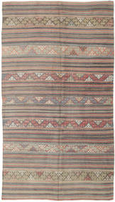 Kilim Turkish Rug 160X292 Authentic  Oriental Handwoven Light Brown/Dark Grey (Wool, Turkey)