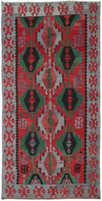 Kelim Tyrkiet Tæppe 160X320 Ægte Orientalsk Håndvævet Rød/Mørkebrun (Uld, Tyrkiet)