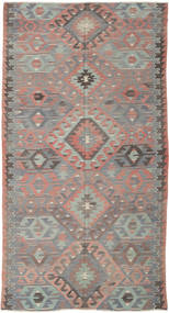 Kilim Turkish Rug 164X308 Authentic  Oriental Handwoven Dark Grey/Light Grey (Wool, Turkey)