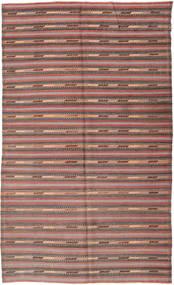 Kelim Türkei Teppich  180X296 Echter Orientalischer Handgewebter Dunkelgrau/Rost/Rot (Wolle, Türkei)