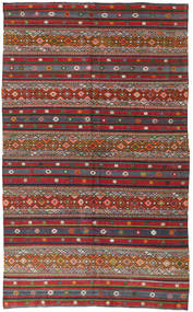 Kilim Turkish Rug 168X280 Authentic  Oriental Handwoven Dark Grey/Dark Red (Wool, Turkey)